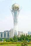 Astana. Bayterek, sights of city Royalty Free Stock Photo