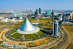 Astana from the bird's flight Stock Images