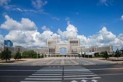 Astana. Blue sky above astana building royalty free stock image