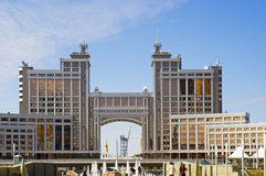 Astana-building of the Ministry of Commerce. Located near the main avenue Stock Photography