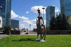 Astana a capital de Cazaquistão, arte moderna fotos de stock