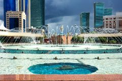 Astana - the capital of Kazakhstan stock photography