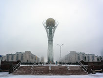 Astana, the capital of Kazakhstan. This city will be the site of Expo 2017. Photo taken in a cold winter day. Stock Photos