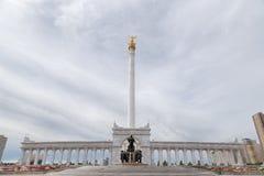 Astana, Cazaquistão - 3 de setembro de 2016: A área do ` s de Cazaquistão fotos de stock