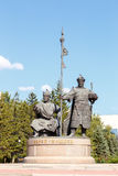 Astana, Cazaquistão - 4 de setembro de 2016: Monumento J mudado Kerey imagem de stock