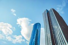 ASTANA, CAZAQUISTÃO - em setembro de 2018: arranha-céus em Cazaquistão fotos de stock royalty free