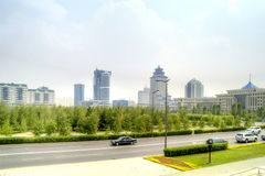 Astana. Center of city. Nurzhol Boulevard Royalty Free Stock Photo