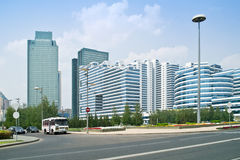 Astana. Center of city. Nurzhol Boulevard Stock Photography