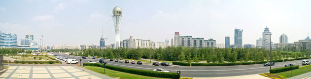 Astana. Center of city. Panorama Stock Image