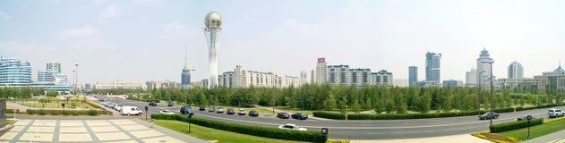 astana Centro della città Panorama Immagine Stock