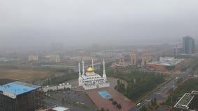 astana Cidade na névoa imagens de stock