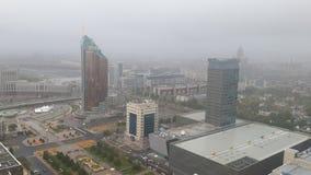 astana Città nella nebbia Fotografia Stock Libera da Diritti