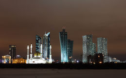 Astana City. In night light Royalty Free Stock Photography