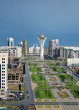 Astana city. Panorama. Astana city in Kazakhstan. Build and home. Bayterek tower Royalty Free Stock Image