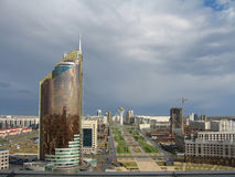 Astana city. Panorama. Astana city in Kazakhstan. Build and home. Bayterek tower Royalty Free Stock Images