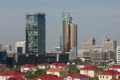 Astana Cityscape. Cityscape of Astana, the capital of Kazakhstan, with modern skyscrapers Royalty Free Stock Photo