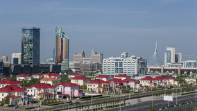 Astana Cityscape. Cityscape of Astana, the capital of Kazakhstan, with modern skyscrapers stock photo