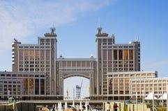 Astana-construction du ministère du commerce Photographie stock