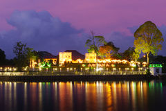 ASTANA at Dawn along the Kuching Waterfront Royalty Free Stock Photo