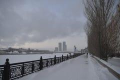 Astana a dicembre fotografia stock