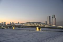 Astana a dicembre immagini stock