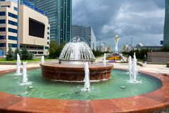 Astana - die Hauptstadt von Kasachstan lizenzfreies stockfoto