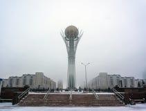 Astana, die Hauptstadt von Kasachstan Diese Stadt ist der Standort von Ausstellung 2017 Foto eingelassen ein kalter Wintertag Stockfotos