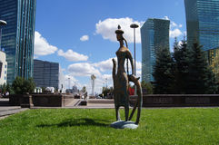 Astana die Hauptstadt von Kasachstan, moderne Kunst stockfotos