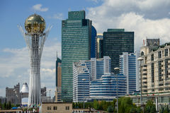 Astana downtawn 2 Royalty Free Stock Images
