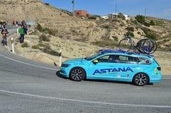 Astana drużyny samochód Zdjęcia Stock