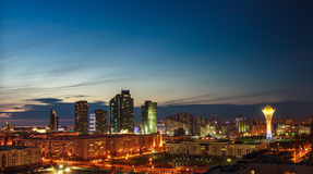 Astana at dusk Royalty Free Stock Image