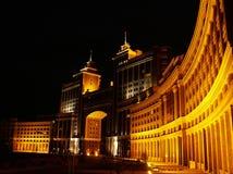 Astana en la noche fotografía de archivo libre de regalías