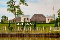 The Astana, or Governor`s Palace, located in Kuching in the Province of Sarawak, the island of Borneo and the country of Malaysia Royalty Free Stock Images
