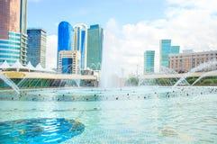 Astana - Hauptstadt von Kasachstan stockbild