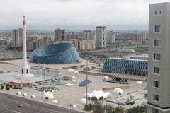 Astana is a heart Kazakhstan. Photo beauties Astana with skyscrapers stock photography