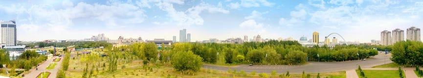 Astana. Horizontal municipal image libre de droits