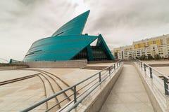 Astana, il Kazakistan - 25 agosto 2015: Il concerto centrale Hall Kazakhstan fotografia stock