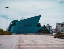 Astana, il Kazakistan - luglio 2018: situato nel centro amministrativo, unico nella sua progettazione architettonica, il più gran fotografie stock