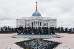 ASTANA, IL KAZAKISTAN - 13 SETTEMBRE 2017: Palazzo presidenziale Ako immagini stock