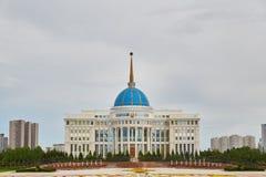 Astana, Kasachstan - Aqorda, Akorda ist der Wohnsitz des Präsidenten des Republik Kasachstan, Qazaqstan lizenzfreie stockfotografie