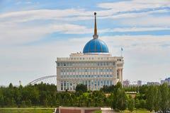 Astana, Kasachstan - Aqorda, Akorda ist der Wohnsitz des Präsidenten des Republik Kasachstan, Qazaqstan stockfotografie