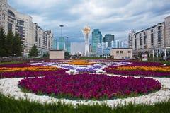 ASTANA, KASACHSTAN - 15. Juli 2016: Baiterek - ein Monument in der Hauptstadt von Kasachstan, Astana, eine der Hauptanziehungskrä Stockfoto