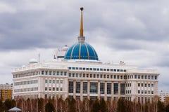 ASTANA KASAKHSTAN - APRIL 26, 2018: Fördrag - uppehåll av presidenten av Republikenet Kazakstan fotografering för bildbyråer