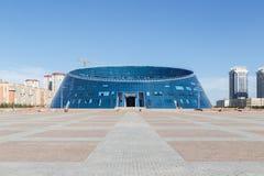 Astana Kasakhstan - Augusti 12, 2016: Kazakhmedborgare Universit Royaltyfri Bild
