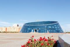 Astana Kasakhstan - Augusti 12, 2016: Kazakhmedborgare Universit Royaltyfri Fotografi
