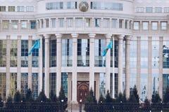 ASTANA KASAKHSTAN - SEPTEMBER 13, 2017: Moderna byggnader - cent Royaltyfri Foto