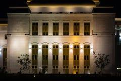 ASTANA, KAZACHSTAN - JULI 25, 2017: Nachtmening van de Astana-Opera de bouwdetails royalty-vrije stock fotografie