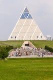Astana Kazachstan, Lipiec, - 6, 2016: pałac pokój i porozumienie Przegląda nowożytną architekturę budynki zdjęcia stock