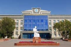 Astana, Kazachstan - September 4, 2016: Monument van S Seifullin Royalty-vrije Stock Afbeelding