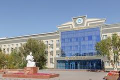 Astana, Kazachstan - September 4, 2016: Monument van S Seifullin Stock Foto's
